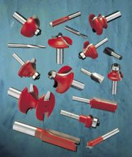 Router cutters with cylindrical shank