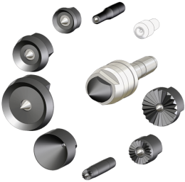 Tailstock interchangeable heads for wood turning