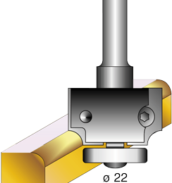 Bearing guided convex cutter with interchangeable tips
