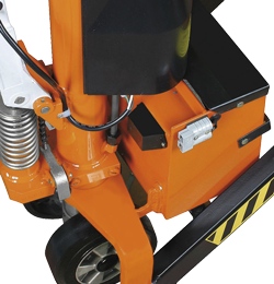 Combined scissor pallet truck with electrical-hydraulic lifting device PHH 1002 E