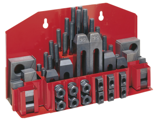 Assortment of clamping tools T-slots