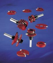 Modular slot router cutters